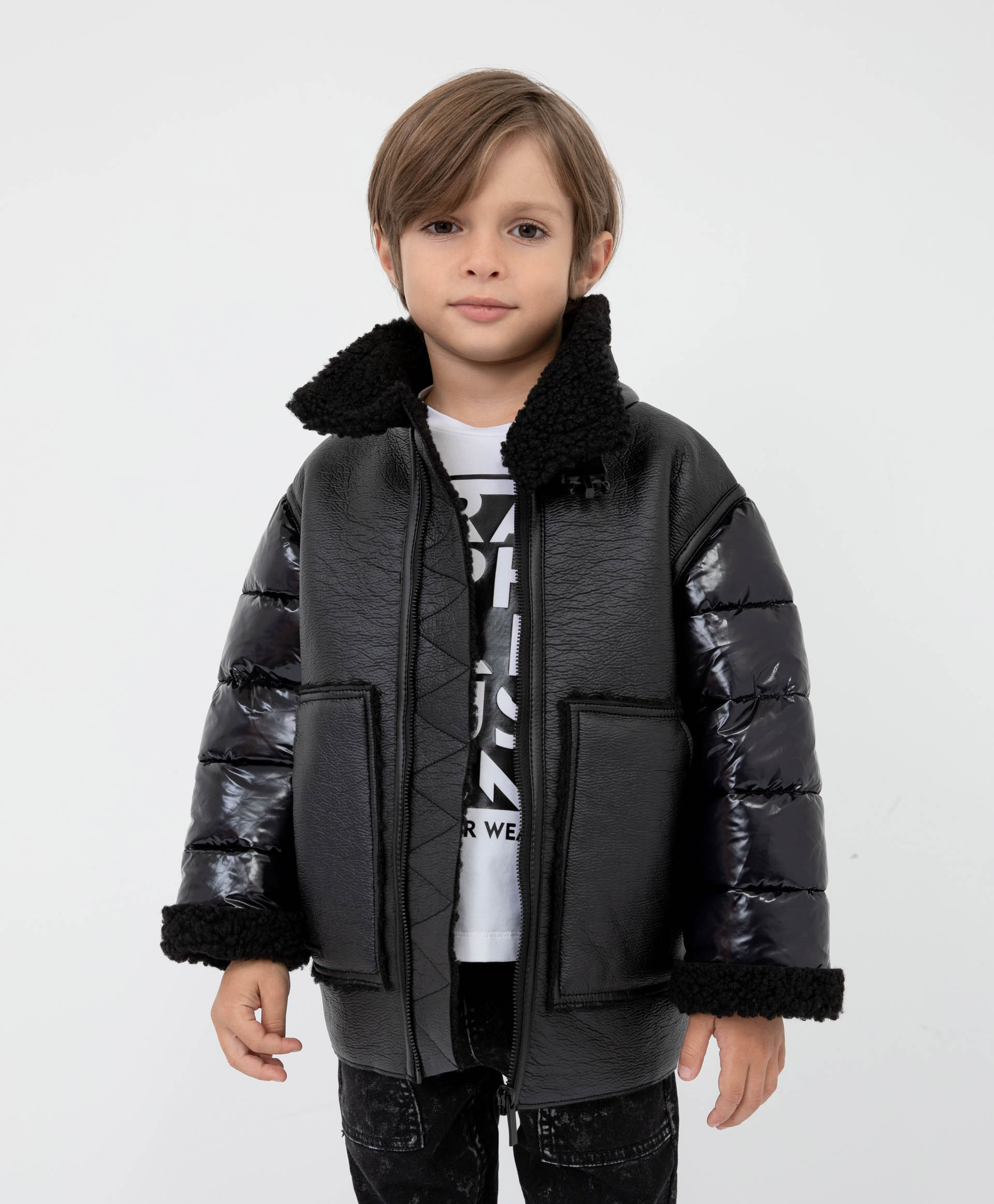 Купить 22105BMC4101, Куртка утепленная черная Gulliver, черный, 128, Полиамид, Мужской, Демисезон, ОСЕНЬ/ЗИМА 2021-2022 (shop: GulliverMarket Gulliver Market)