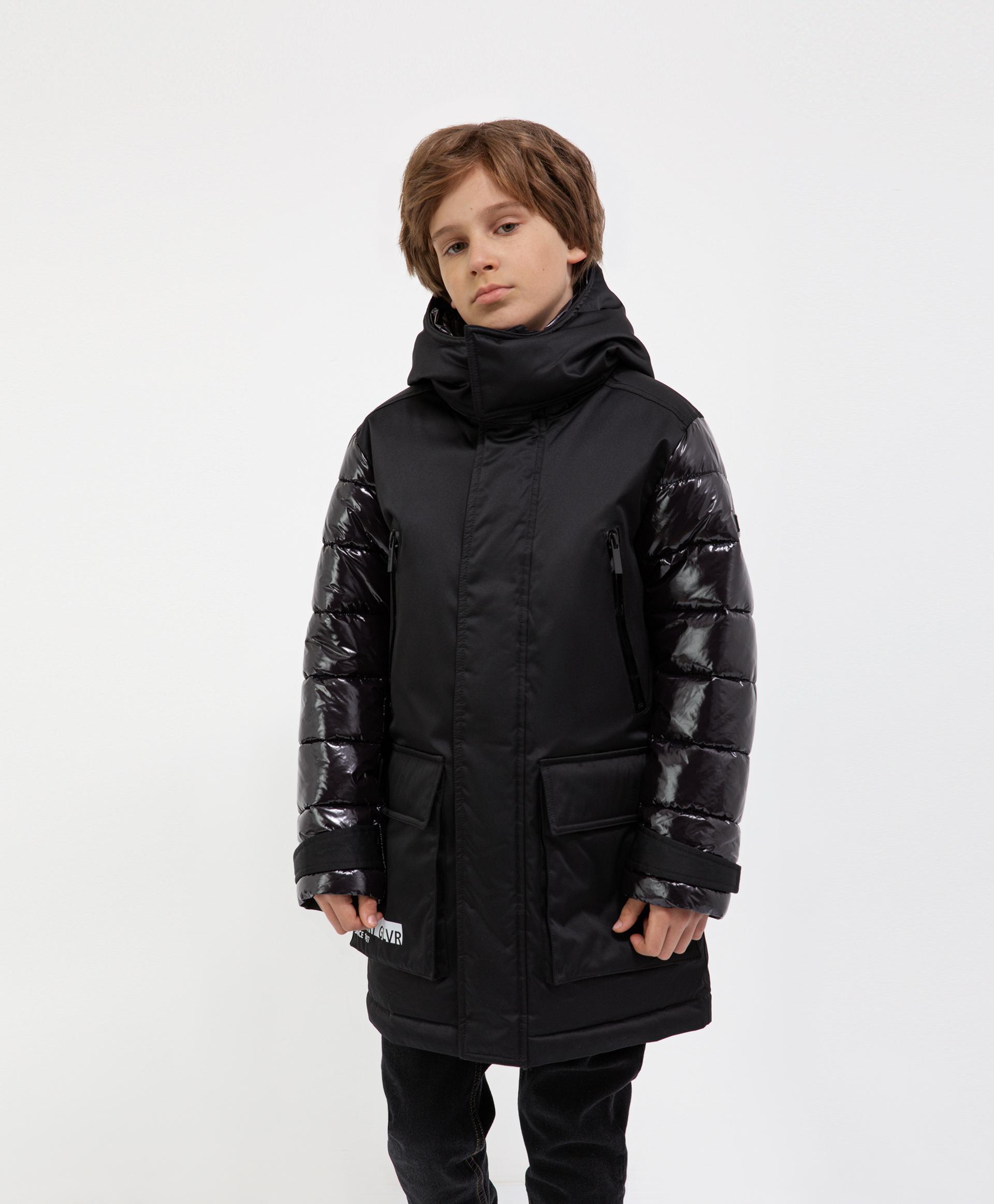 Купить 221GSBC4501, Куртка черная демисезонная Gulliver, 164, Мужской, ШКОЛЬНАЯ ФОРМА 2021-2022 (shop: GulliverMarket Gulliver Market)