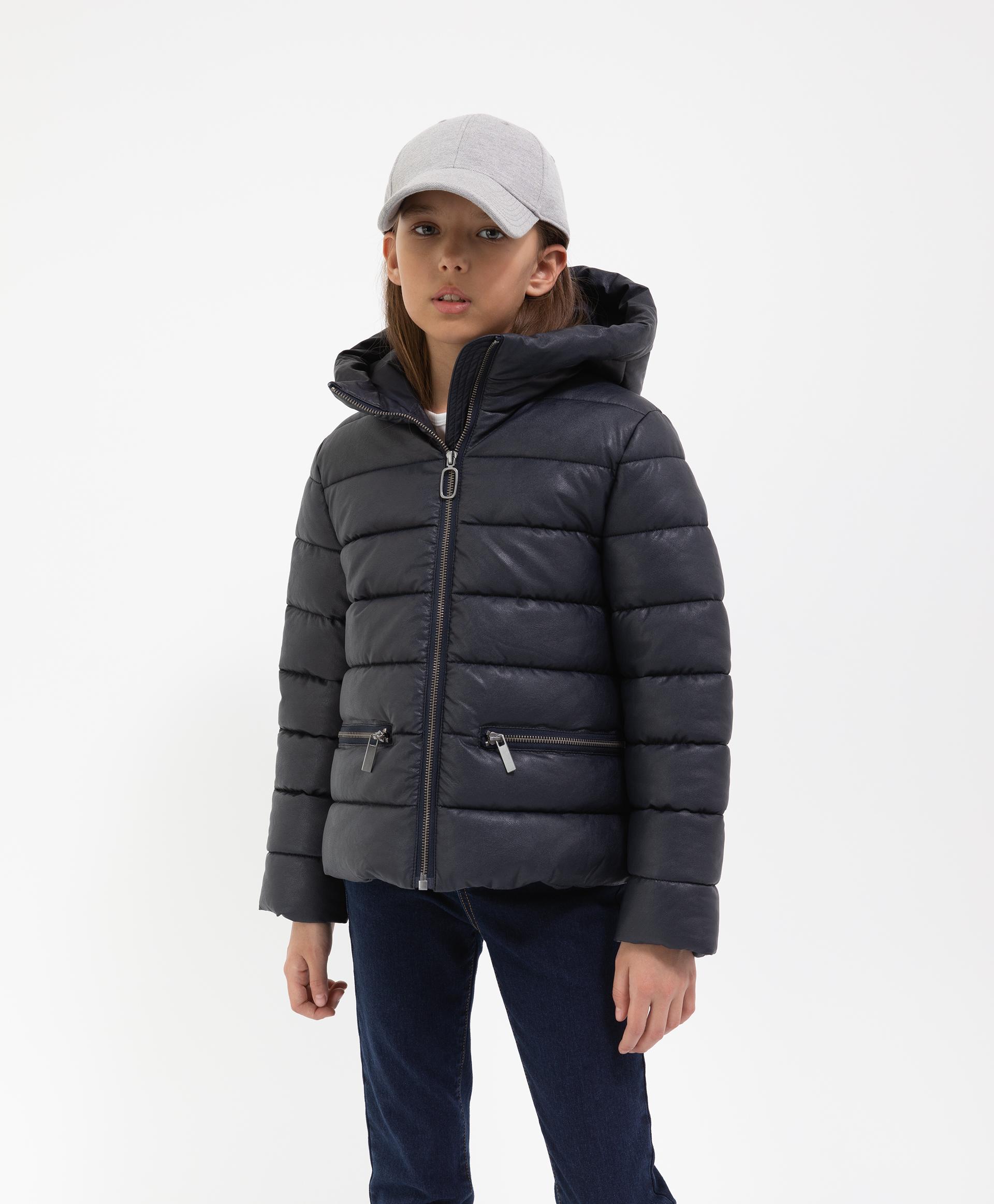 Купить 221GSGC4102, Куртка синяя с капюшоном демисезонная Gulliver, 134, Женский, ШКОЛЬНАЯ ФОРМА 2021-2022 (shop: GulliverMarket Gulliver Market)