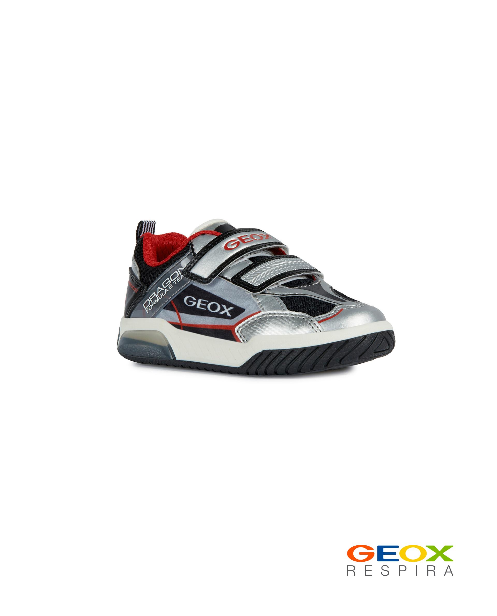 Серые кроссовки Geox для мальчика J02BRA014BUC0474 серого цвета