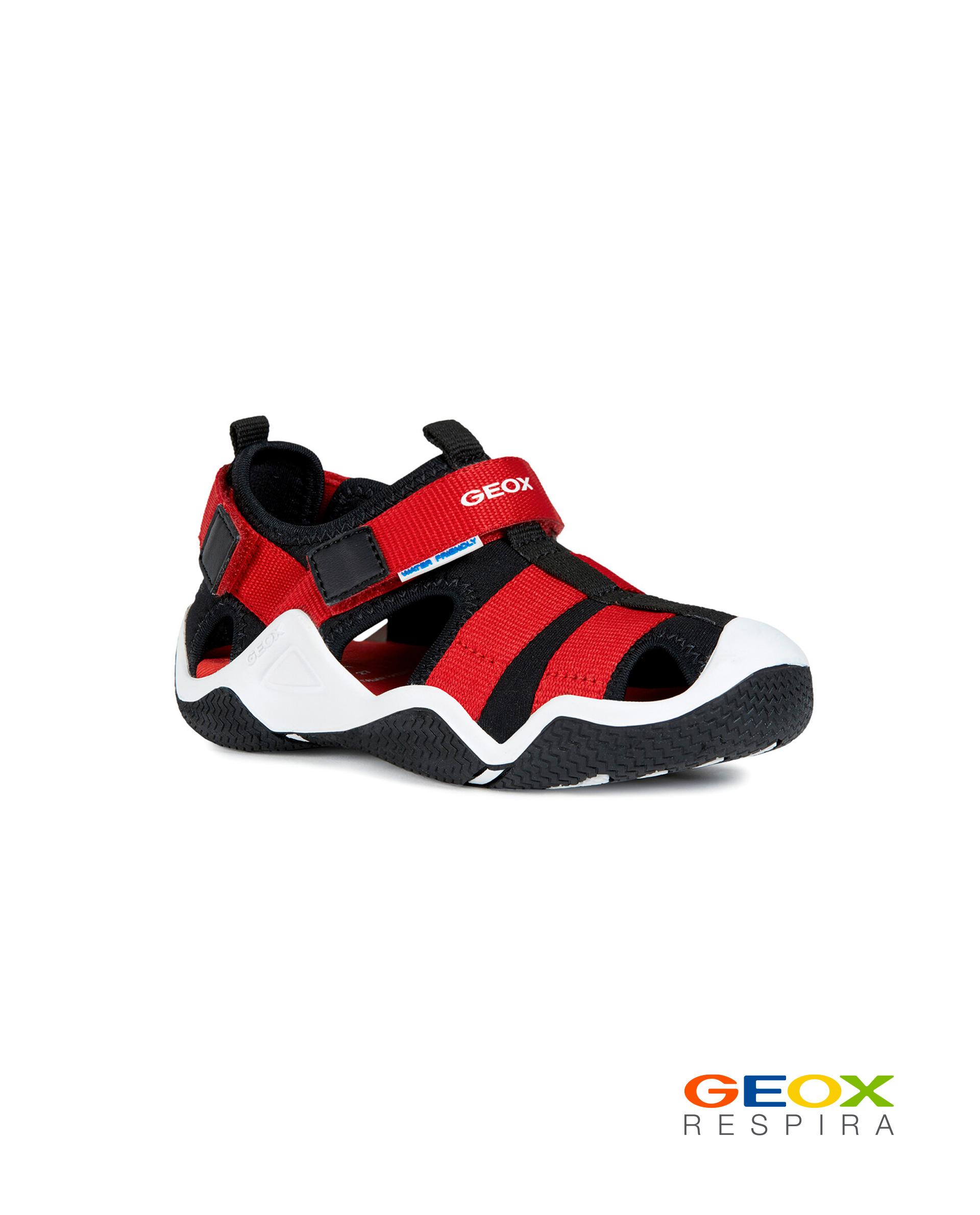 Купить J9230A01554C0048, Черно-красные сандалии Geox для мальчика, черный, 35, Мужской, ВЕСНА/ЛЕТО 2020 (shop: GulliverMarket Gulliver Market)